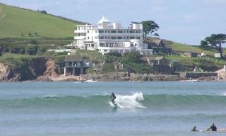 Surfing at Bantham